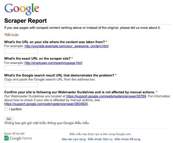 """Google sẽ giành lại """"công lý"""" cho bạn khi bài viết là của bạn"""