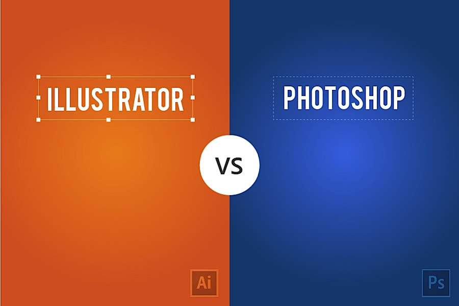 Sự Khác Nhau Giữa Illustrator và Photoshop