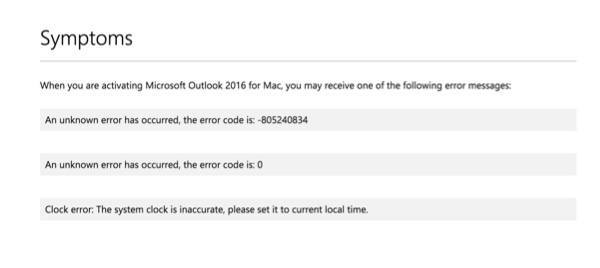 Lỗi khi Active Microsoft Office 2016 trên MAC OS X