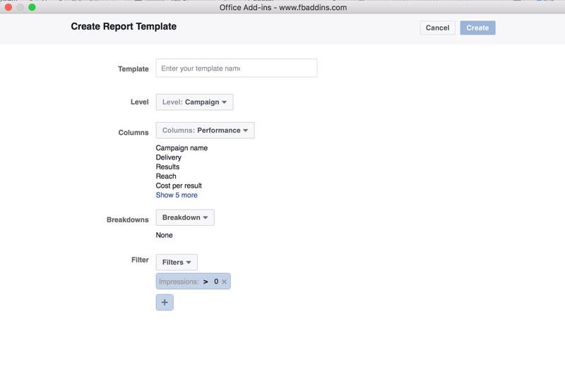 Tạo template Trình quản lý quảng cáo Facebook