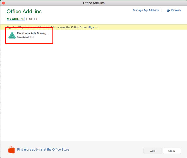 Enter-Add-in-Facebook-Ads-Manager-for-Excel