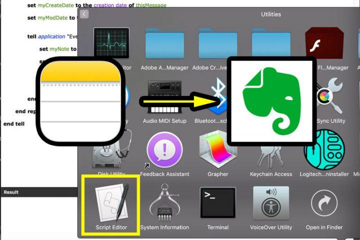 Chuyển dữ liệu Apple Notes qua Evernote